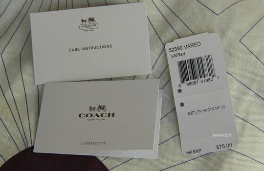 Coach Coach Hangtag Multifunction Tech Case for iPhone 5 5s 6 Galaxy S5