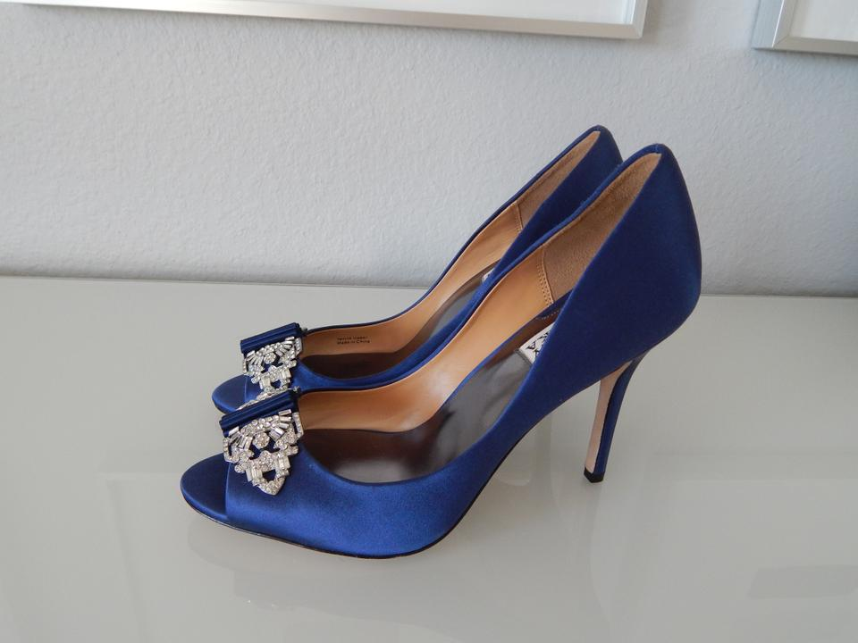 Davida Mischka Navy Badgley Pumps Crystal OEdwxwqP