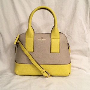 Kate Spade Nwt New Leather Satchel in Beige/Yellow