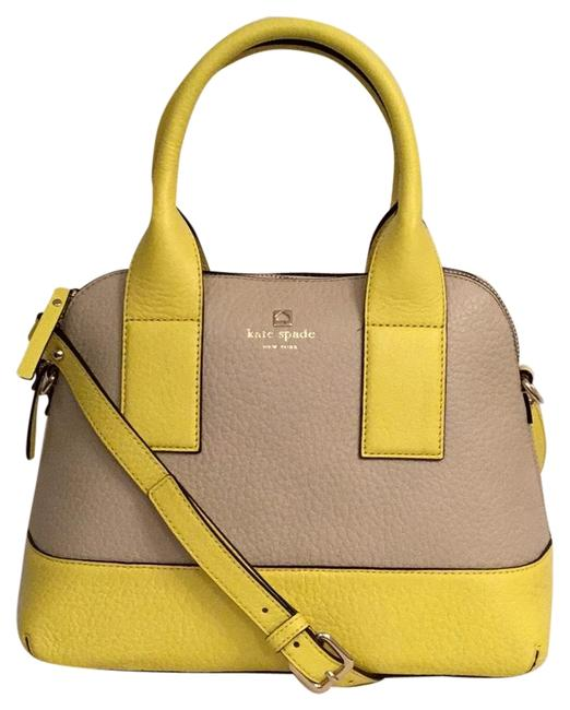 Kate Spade New Southport Avenue Small Jenny Beige Yellow Leather Satchel Kate Spade New Southport Avenue Small Jenny Beige Yellow Leather Satchel Image 1