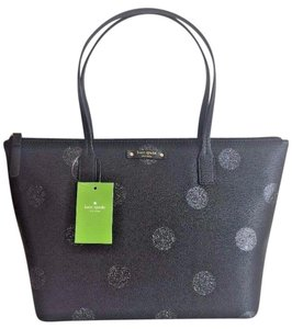 Kate Spade Down The Rabbit Hole Oops A Daisy Large Travel Tote in BLACK GLITTER