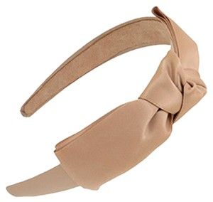 Other Beige Ribbon Bow Headband