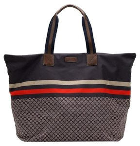 Gucci Nylon Tote in Navy