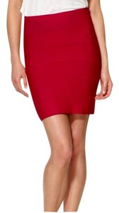 BCBGMAXAZRIA Bcbg Pencil Bandage Skirt Red