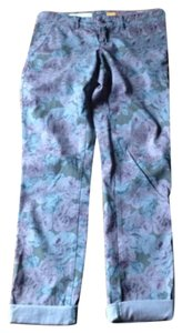 Anthropologie Athro Boyfriend Pants Floral