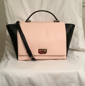 Kate Spade Leather New Nwt Satchel in Soft Rosetta (pink)/Black