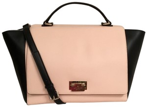 Kate Spade Purse Handbag Cross Body Tote Shoulder Satchel in Pink Black