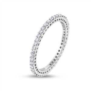 Other 0.46 CT Natural Round Diamond Eternity Band in Solid 18k White Gold