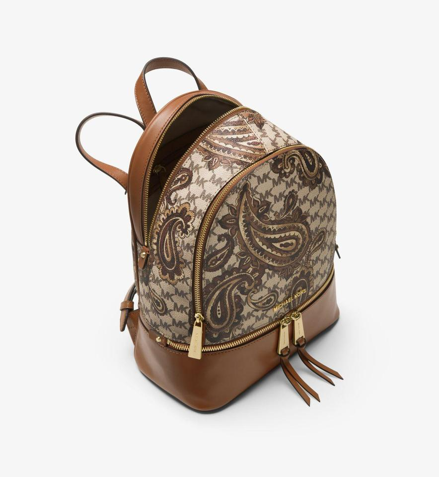 bcea24cd254f Michael Kors Studio Rhea Paisley Medium Luggage Backpack - Tradesy