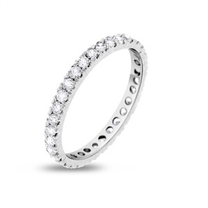 Other 1.00 CT Natural Round Diamond Eternity Band in Solid 14k White Gold