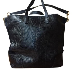 Coach Snake Embossed Suede Leather Big Hobo Bag