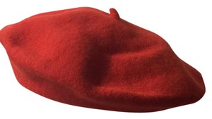 Nordstrom and Toucan SET of THREE Berets: red, black, and medium-brown