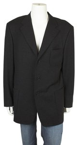 Trussini Wool Silk Black Blazer