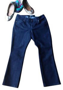 Ann Taylor LOFT Crop Denim Capri/Cropped Denim-Dark Rinse