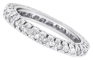 Other 0.75 CT Natural Round Diamond Eternity Band in Solid 14k White Gold