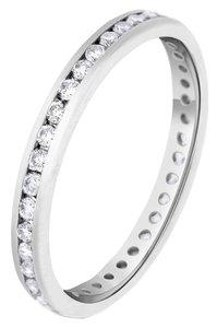 Other 0.53 CT Natural Round Diamond Channel Set Eternity Band in Solid 18k