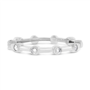 Other 0.10 CT Natural Round Diamond Wedding Band in Solid 14k White Gold