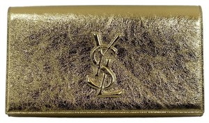 Saint Laurent Ysl 361120 Gold Clutch
