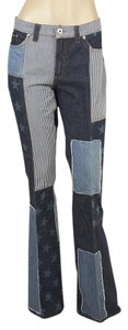 Dolce&Gabbana Patchwork Cotton 96683 Boot Cut Jeans-Distressed