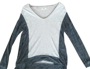 Madewell V-neck Slub T Shirt Grey, Oatmeal