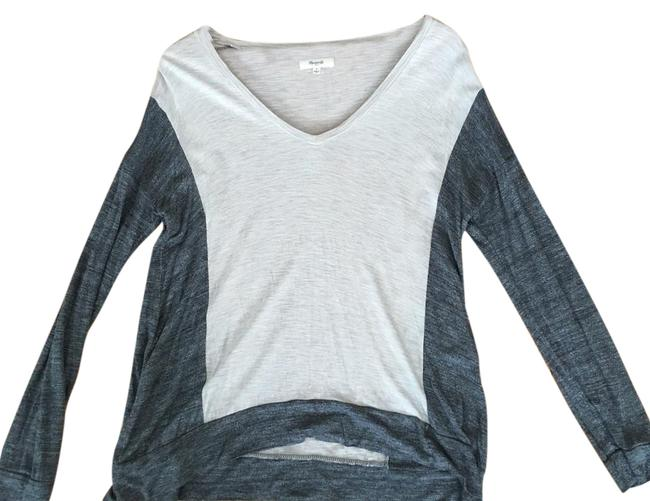 Preload https://img-static.tradesy.com/item/20343849/madewell-grey-oatmeal-colorblock-tee-shirt-size-4-s-0-1-650-650.jpg