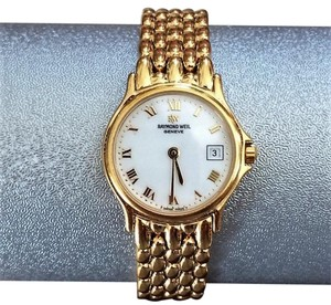 Raymond Weil Marked Down $495Raymond Weil Geneve 18K Gold Plated White Dial Watch