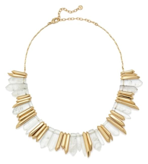 Stella & Dot Gold and Crystal New Rebel Pendant Necklace Stella & Dot Gold and Crystal New Rebel Pendant Necklace Image 1