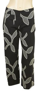 Piazza Sempione Cotton Capris Capri/Cropped Pants Black
