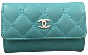 Chanel Wristlet in Aqua green