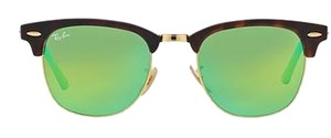 Ray-Ban Ray-Ban Clubmaster Green Flash lense RB3016 114519 Unisex Sunglasses