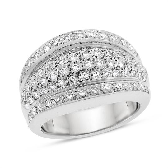 Preload https://img-static.tradesy.com/item/20344207/100-ct-elegant-natural-diamond-dome-cocktail-in-solid-18k-white-ring-0-0-540-540.jpg
