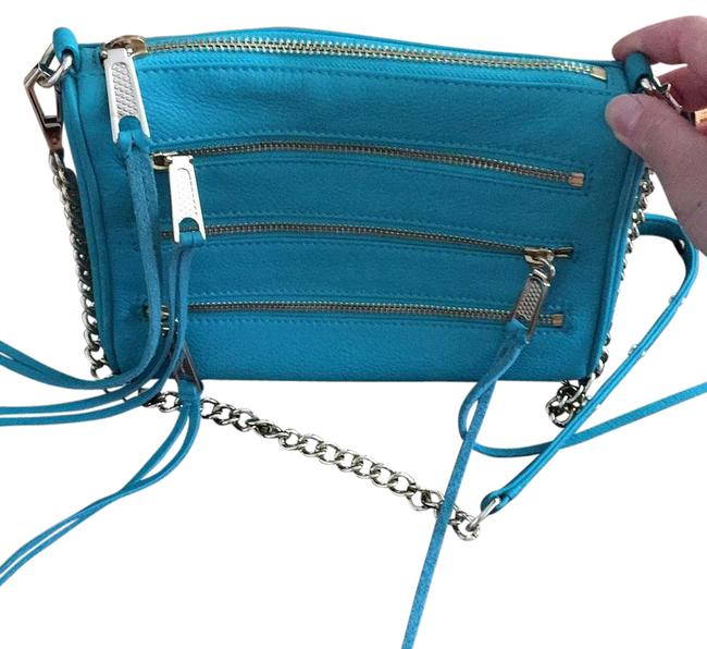 Rebecca Minkoff Turquoise Leather Cross Body Bag Rebecca Minkoff Turquoise Leather Cross Body Bag Image 1