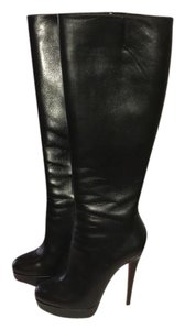 Christian Louboutin Leather Comfortable Boot Black Boots