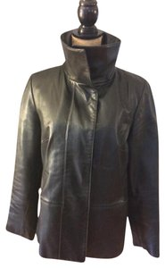Cole Haan Lambskin Soft Comfortable Leather Leather Jacket