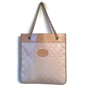 Chanel Quilted Tote in Beige