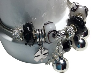Murano New Pandora Look-Bracelet With Murano Beads And Jingle Bell's