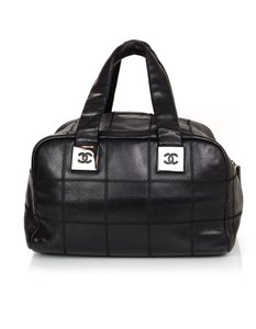Chanel Patchwork Caviar Leather Tote in black