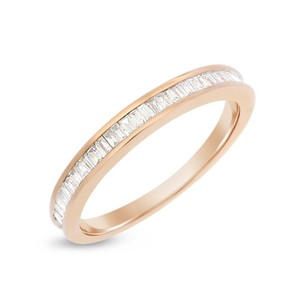 Other 0.30 CT Natural Diamond Baguette Wedding Band in Solid 14k Rose Gold