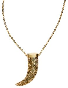 Tory Burch NEW Tory Burch Babylon Horn Necklace - Gold Tone Brass