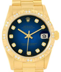 Rolex Rolex President Datejust Midsize 18K Yellow Gold Diamond Watch 68258