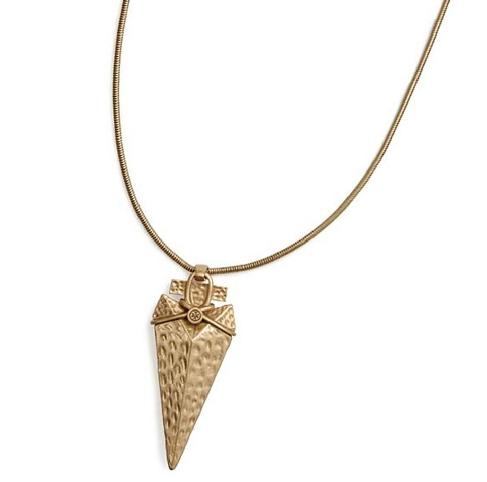 Tory burch gold arrowhead pendant necklace tradesy tory burch arrowhead pendant necklace aloadofball Image collections