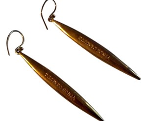 Vince Camuto Vince Camuto Spear Linear Gold Tone Earrings