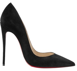 Christian Louboutin Suede Loubs Kate black Pumps