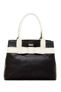 Kate Spade Leather Tote in Black/Bone