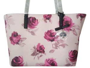 Kate Spade Small Rose Floral Tote in light purple