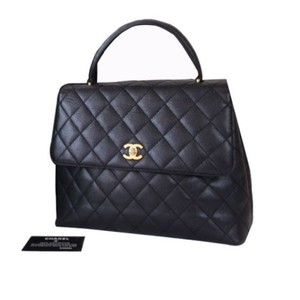 Chanel Cc Logos Satchel in Black