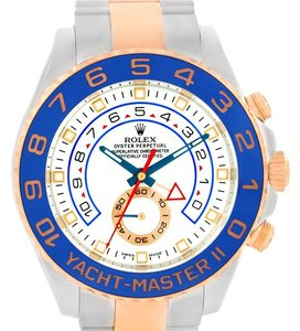 Rolex Rolex Yachtmaster II Steel 18k Rose Gold Mens Watch 116681 Box papers