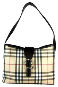 Burberry Nova Check Leather Beige Shoulder Bag