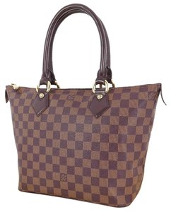 Louis Vuitton Saleya Pm Damier Ebene Tote in Brown