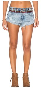 One Teaspoon Denim Shorts-Medium Wash